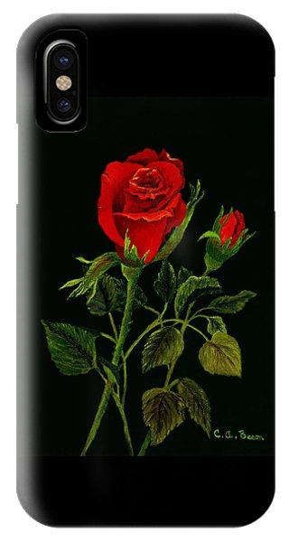 Red Tango Rose Bud IPhone Case