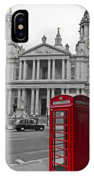 Red Telephone Boxes In London IPhone Case