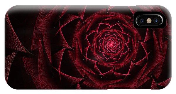 Red Textile Rose IPhone Case