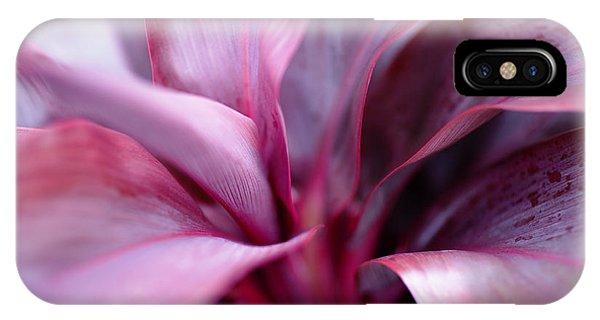 Red Ti-leaf Macro IPhone Case