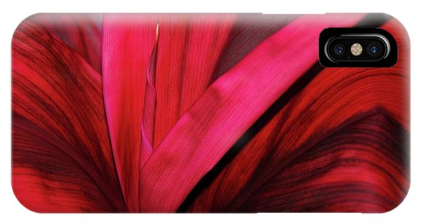 Red Ti Leaf Plant - Hawaii IPhone Case