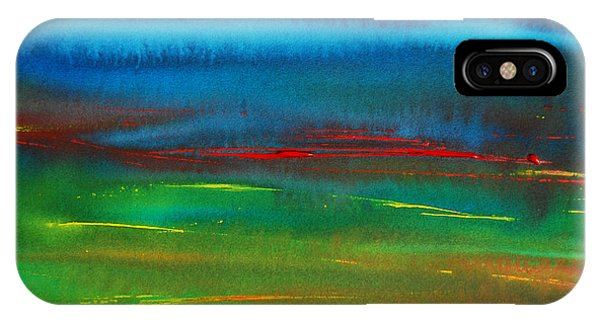 Red Tide Abstract IPhone Case