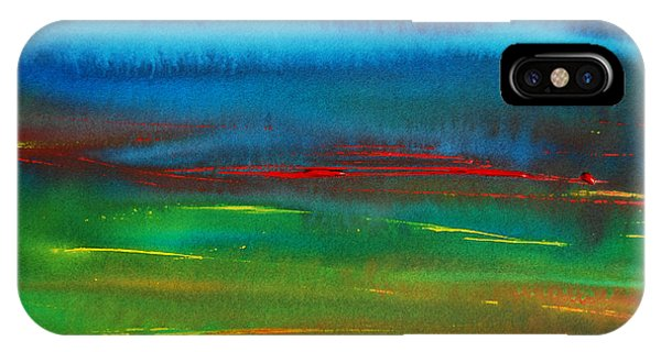 IPhone Case featuring the painting Red Tide Abstract by Jani Freimann