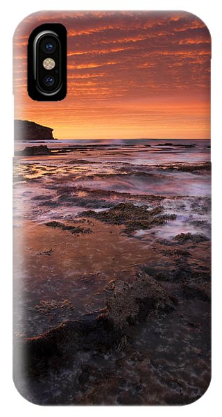 Kangaroo iPhone Case - Red Tides by Mike  Dawson