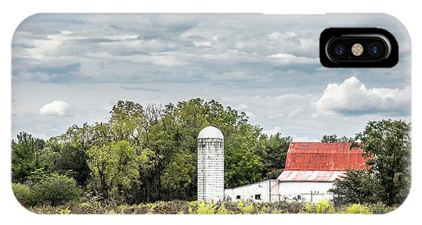 Silo iPhone Case - Red Tin Roof by Tom Mc Nemar