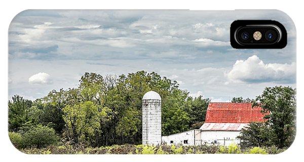 Farmland iPhone Case - Red Tin Roof by Tom Mc Nemar