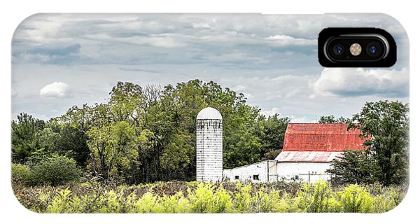Silos iPhone Case - Red Tin Roof by Tom Mc Nemar