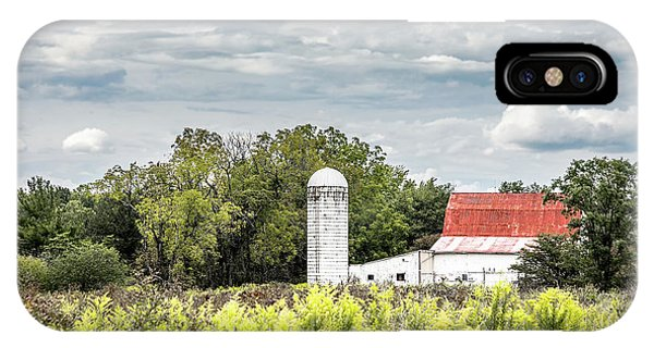 Rural iPhone Case - Red Tin Roof by Tom Mc Nemar