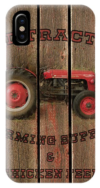 Red Tractor Farming Supply IPhone Case
