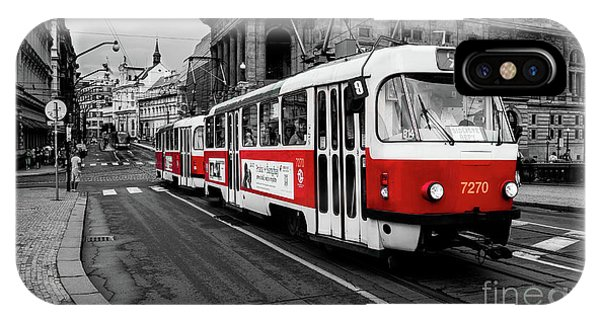 Red Tram IPhone Case
