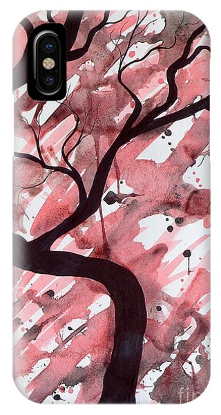Red Tree Enchantment IPhone Case