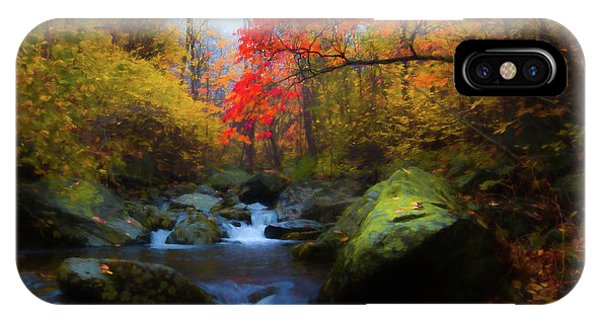 Red Tree In White Oak Canyon IPhone Case