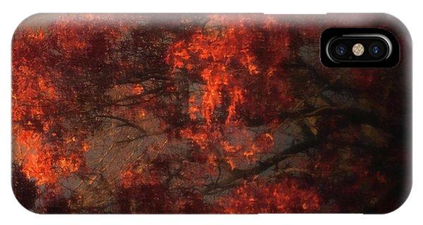 Red Tree Scene IPhone Case