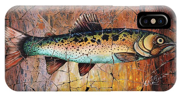Red Trout Fresco IPhone Case