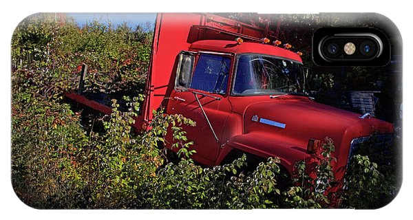 Truck iPhone Case - Red Truck by Jerry LoFaro