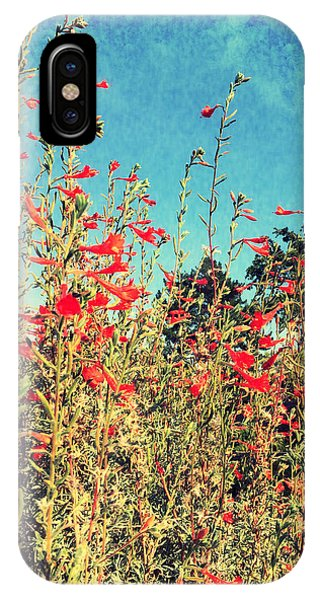 Red Trumpets Playing IPhone Case