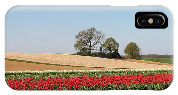 Red Tulips Landscape IPhone Case