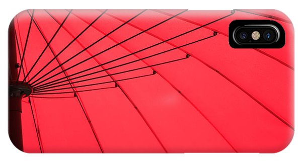 Red Umbrella Abstract Phone Case by Tony Grider