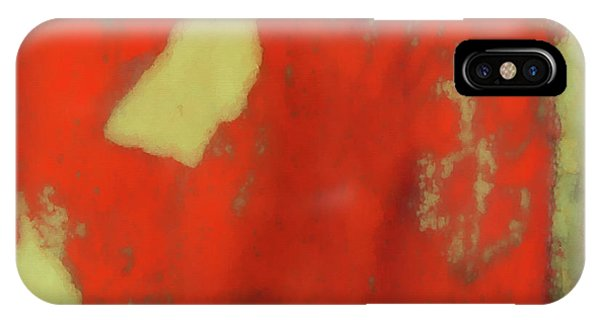 Red Wall With Boot  IPhone Case