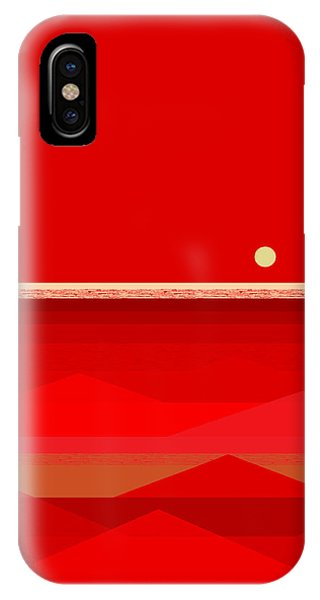 Red Waves IPhone Case