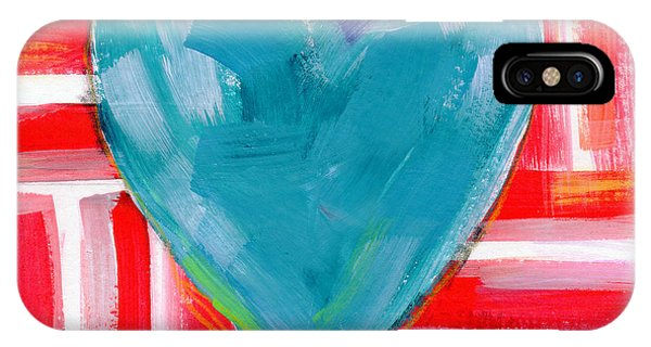 Americana iPhone Case - Red White And Blue Love- Art By Linda Woods by Linda Woods