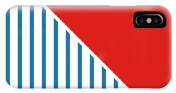 Red White And Blue Triangles 2 IPhone Case