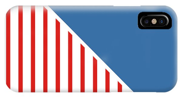 American iPhone Case - Red White And Blue Triangles by Linda Woods