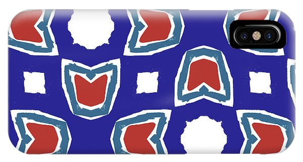 Red White And Blue Tulips Pattern- Art By Linda Woods IPhone Case