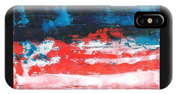 Red White Blue Scene IPhone Case