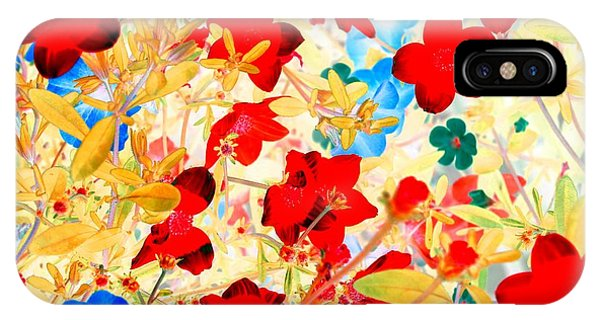 IPhone Case featuring the photograph Red Wild Flowers by Marianne Dow