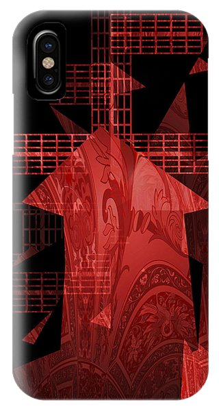 Red Windmill Abstract IPhone Case