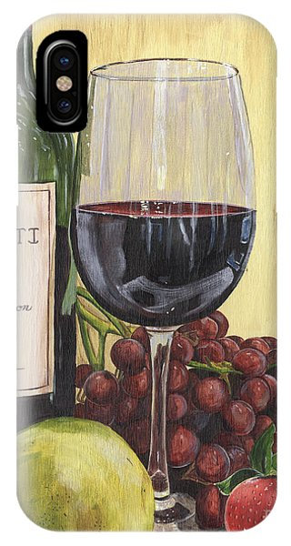 Wine Glass iPhone Case - Red Wine And Pear 2 by Debbie DeWitt