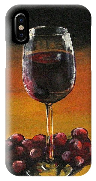 iPhone Case - Red Wine And Red Grapes by Torrie Smiley