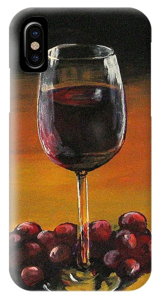 Red Wine And Red Grapes IPhone Case