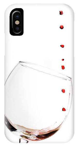 Red Wine Drops Into Wineglass IPhone Case