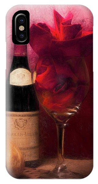 Vino iPhone Case - Red Wine by Tom Mc Nemar