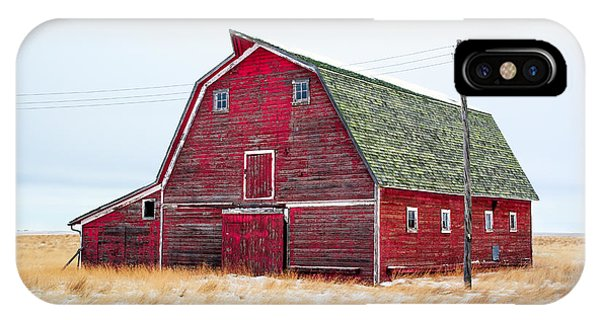 Farm iPhone Case - Red Winter Barn by Todd Klassy