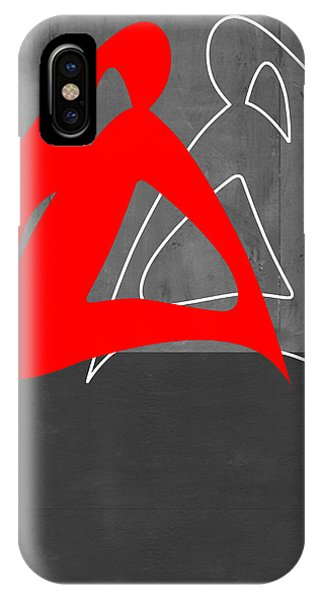Abstract Figurative iPhone Case - Red Woman by Naxart Studio