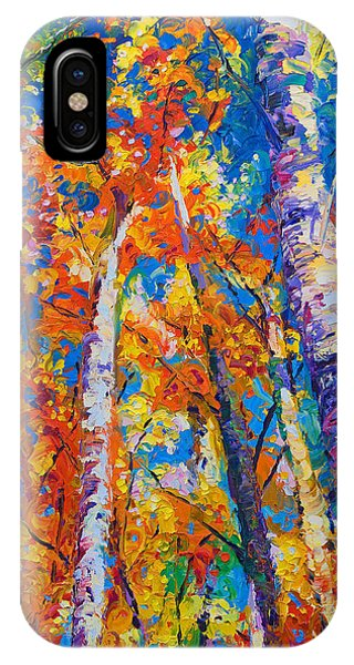Light Paint iPhone Case - Redemption - Fall Birch And Aspen by Talya Johnson