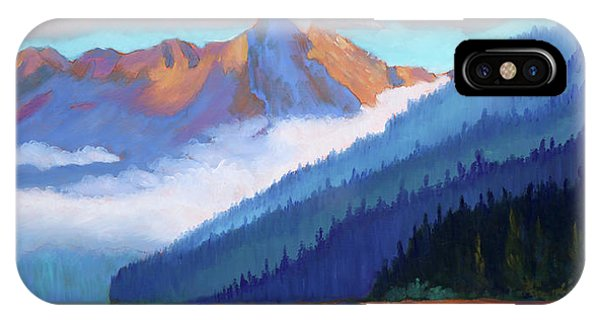 Redfish Lake - Low Clouds IPhone Case