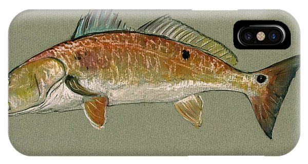 Redfish Watercolor Painting IPhone Case
