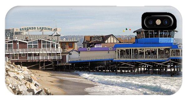 Redondo Beach Pier Shopping IPhone Case