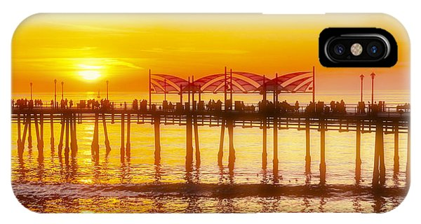 IPhone Case featuring the photograph Redondo Sunset by Michael Hope