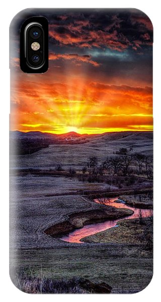 Redwater River Sunrise IPhone Case