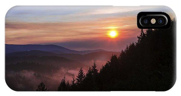 Sun Rays iPhone Case - Redwood Sun by Chad Dutson