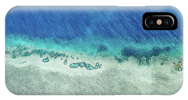 Helicopter iPhone X Case - Reef Barrier by Az Jackson