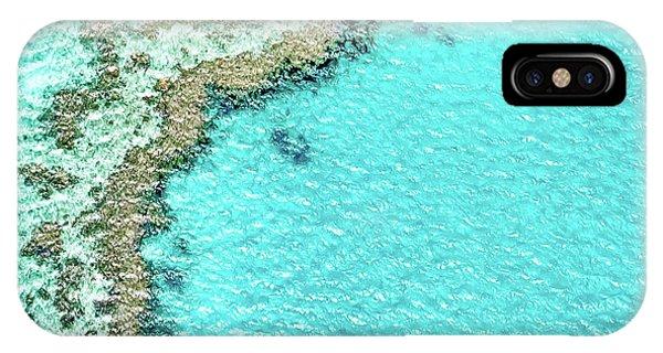 Teal iPhone Case - Reef Textures by Az Jackson