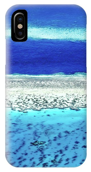Helicopter iPhone X Case - Reefs Edge by Az Jackson