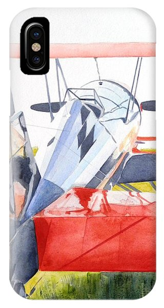 Reflection On Biplane IPhone Case
