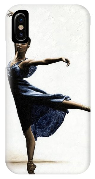 Blue Dress iPhone Case - Refined Grace by Richard Young